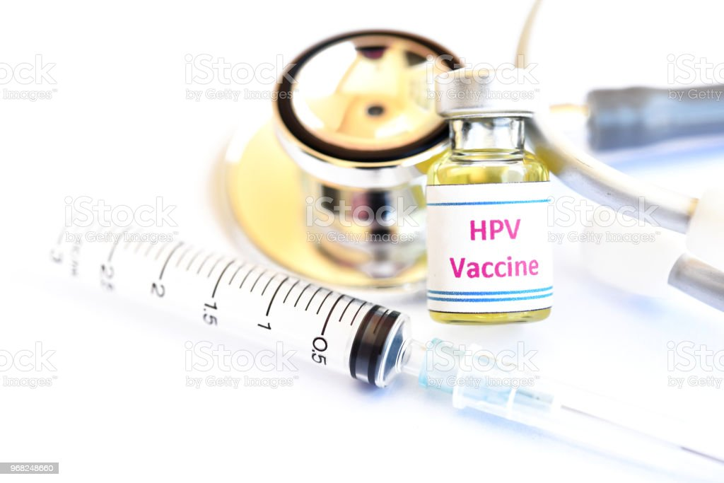 HPV vaccine for injection stock photo