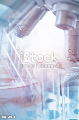 istock Vacutainer or test tube in lab on table 926795818