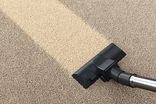 vacuum cleaner and carpet - tapijtveger stockfoto's en -beelden