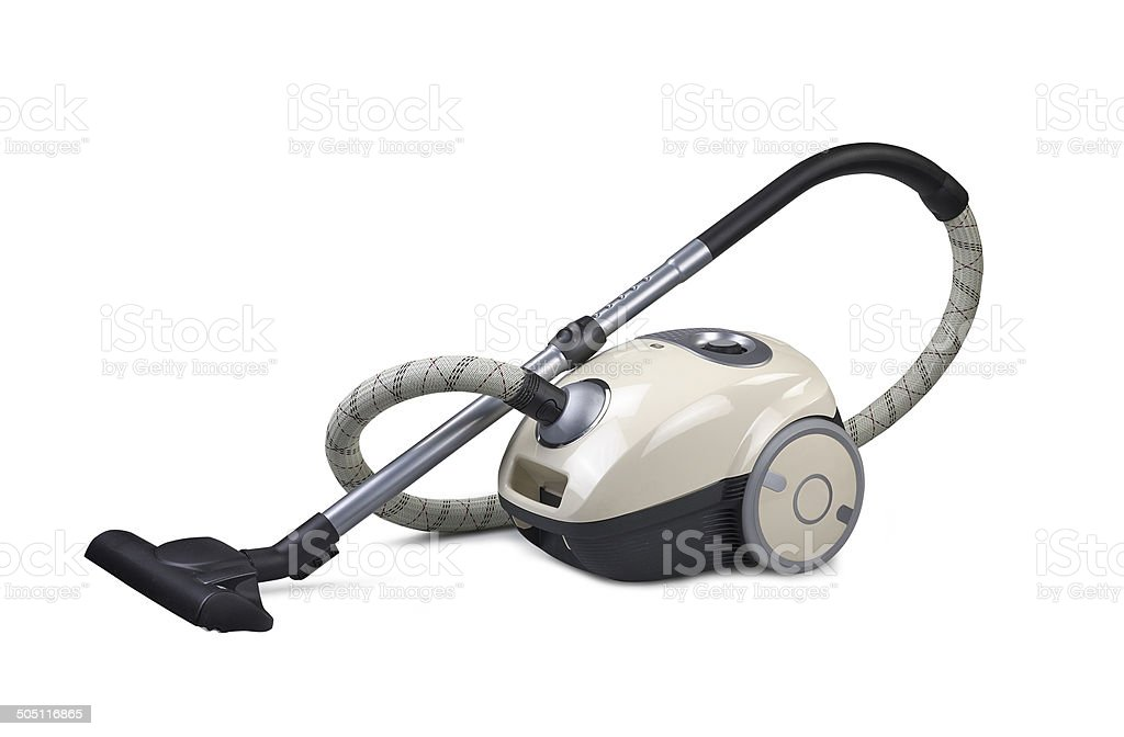 Vacuum cleaner isolated on the white background (CLIPPING PATH) stock photo