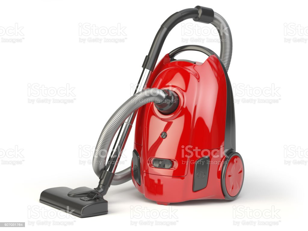Vacuum cleaner isolated on white background stock photo