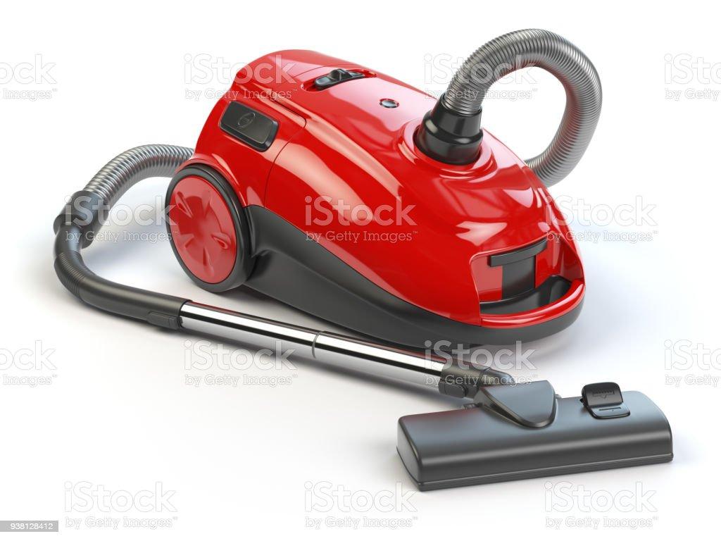 Vacuum cleaner isolated on white background. stock photo