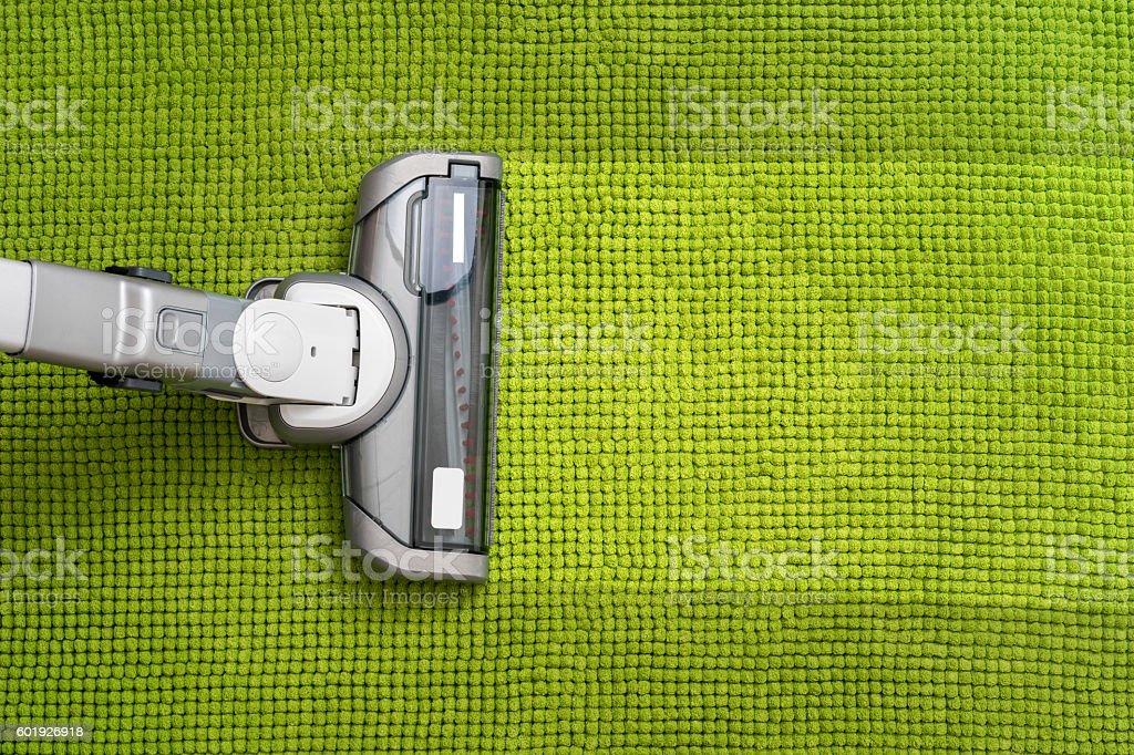 Aspirapolvere sul pavimento - foto stock