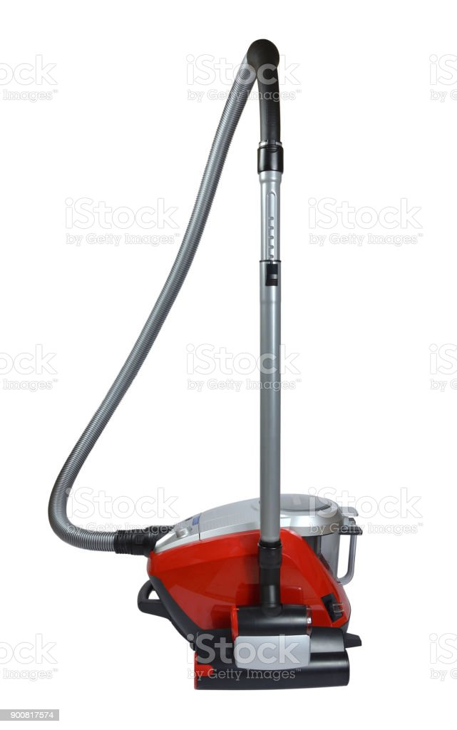 Vacuum cleaner on white stock photo