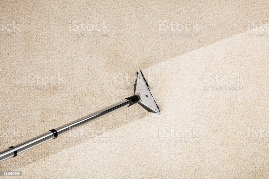 Vacuum Cleaner With Carpet stock photo