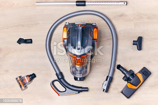 istock Vacuum cleaner with nozzles and hose 1020355576