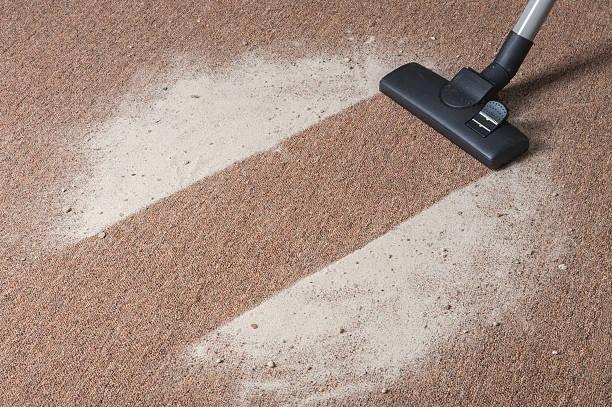 Vakuum Reinigung Schmutz auf dem Teppich – Foto