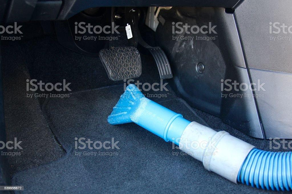 Vacuum inside Vehicle stock photo