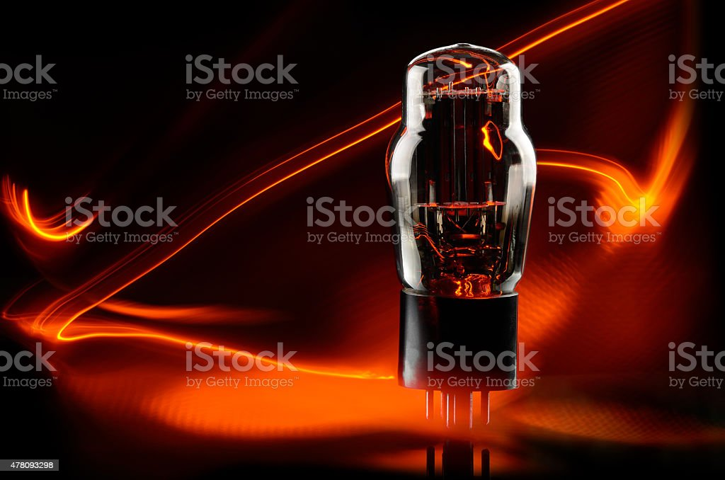 Vacuum lamp stock photo