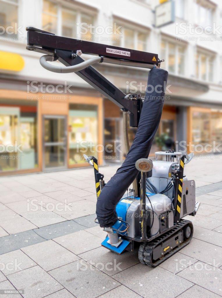 Vacuum lift stock photo
