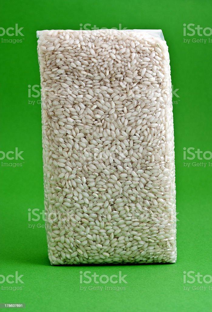 Envasado al vacío de arroz - foto de stock