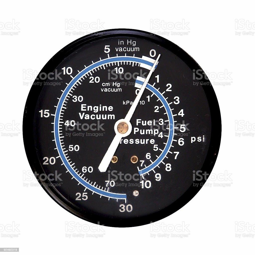 Vacuum / pressure gauge royalty-free stock photo
