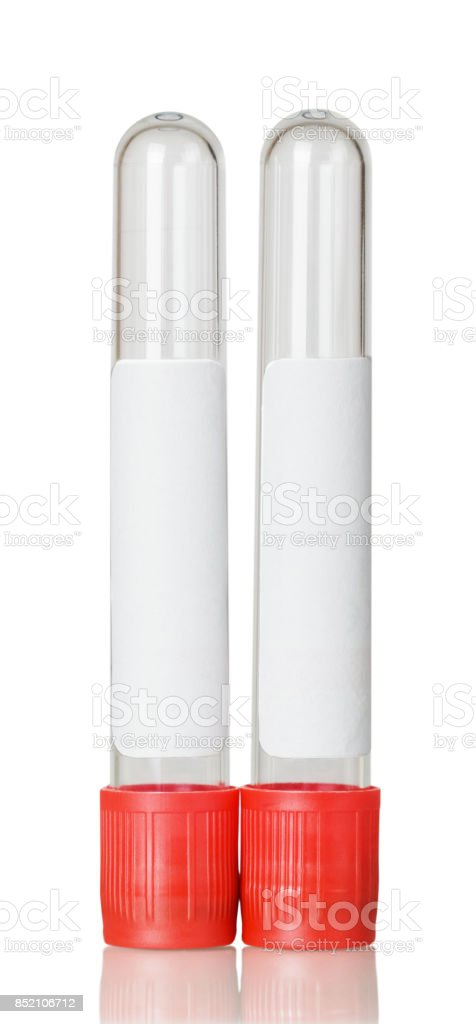 Vacuum test tubes isolated on a gray background stock photo