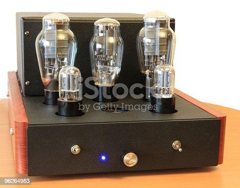 istock vacuum tube amplifier on 300B triodes 96264983