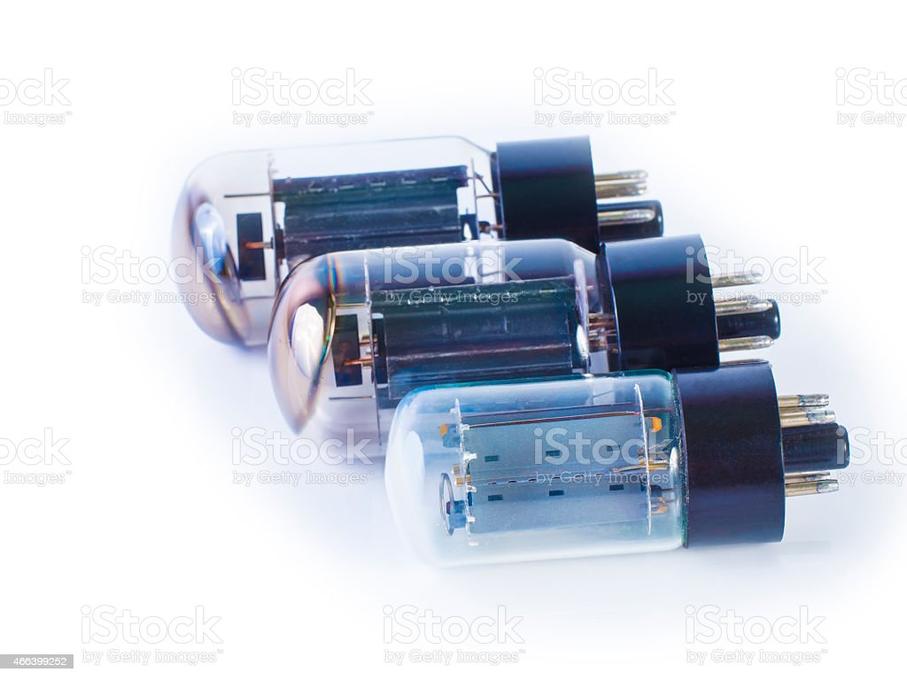 vacuum tube ,electronic parts stock photo