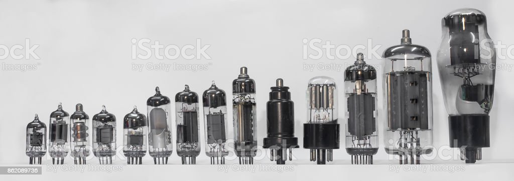 vacuum tube set stock photo