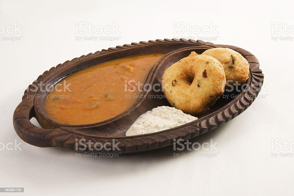 Vada and Sambar stock photo