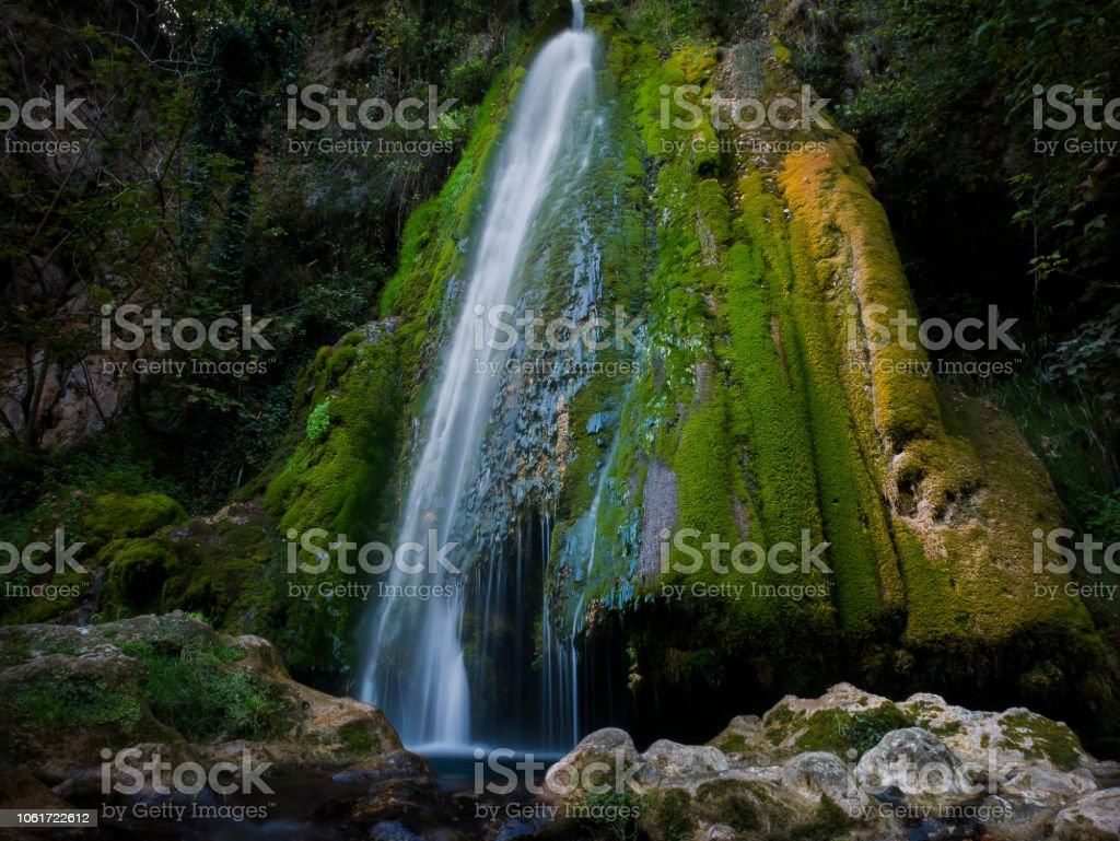 Vadu Crisului waterfall, Oradea, Bihor county, Romania stock photo
