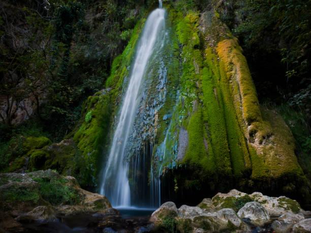 Vadu Crisului waterfall, Oradea, Bihor county, Romania stock photo