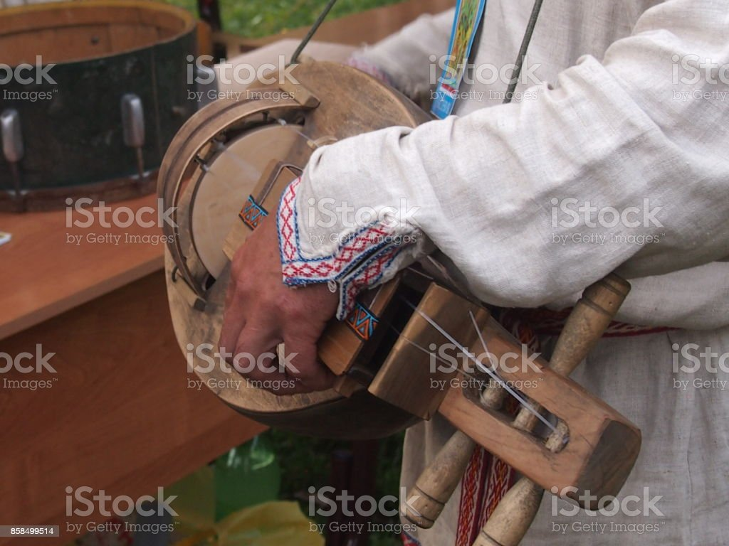 Vagrant musician stock photo
