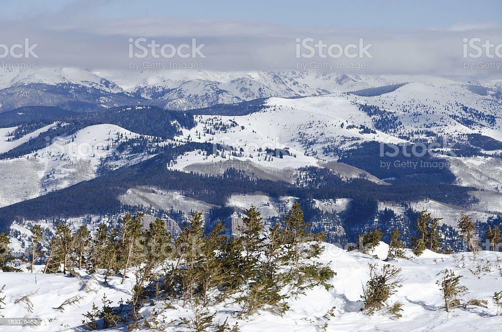Vail Colorado Back Bowls View stock photo