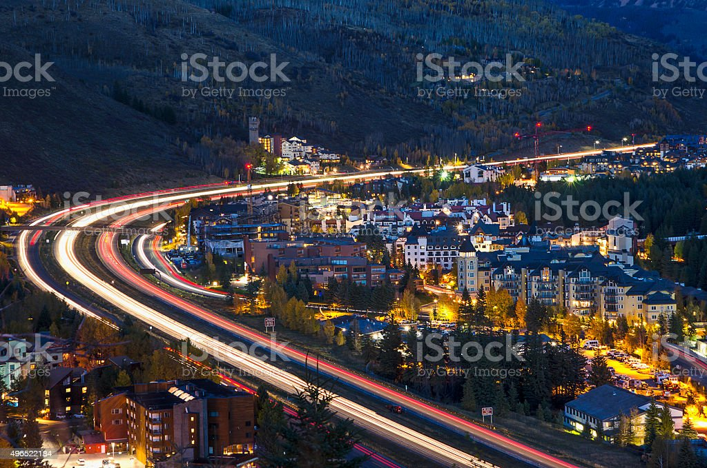 Vail, Colorado in the Rocky Mountains stock photo