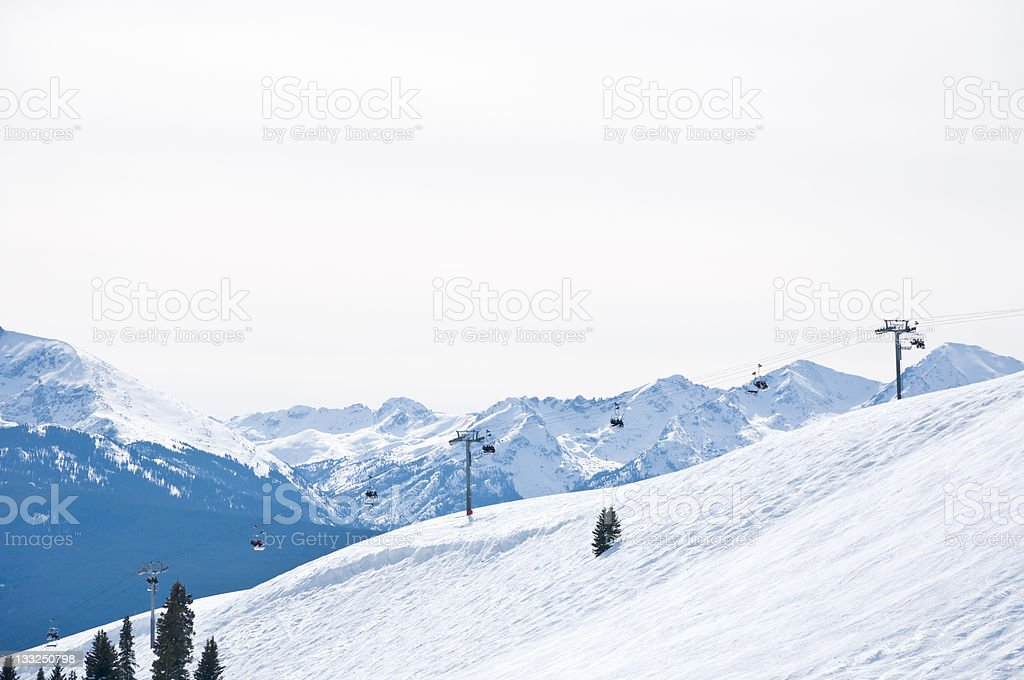Vail Colorado Ski Resort Chairlift in Winter royalty-free stock photo