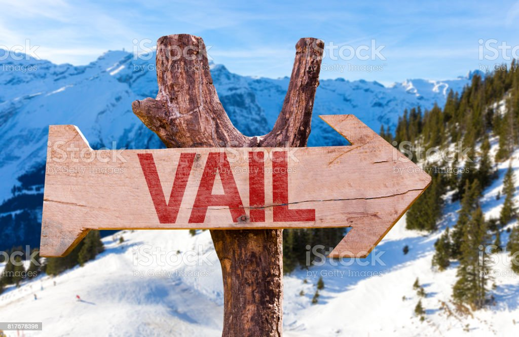 Vail Direction sign stock photo