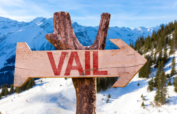 Vail Direction sign Vail sign avon colorado stock pictures, royalty-free photos & images