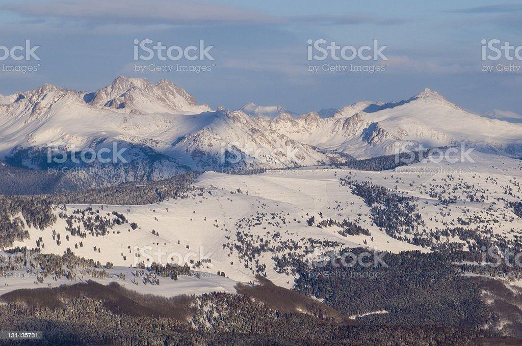 Vail Ski Resort Back Bowls stock photo