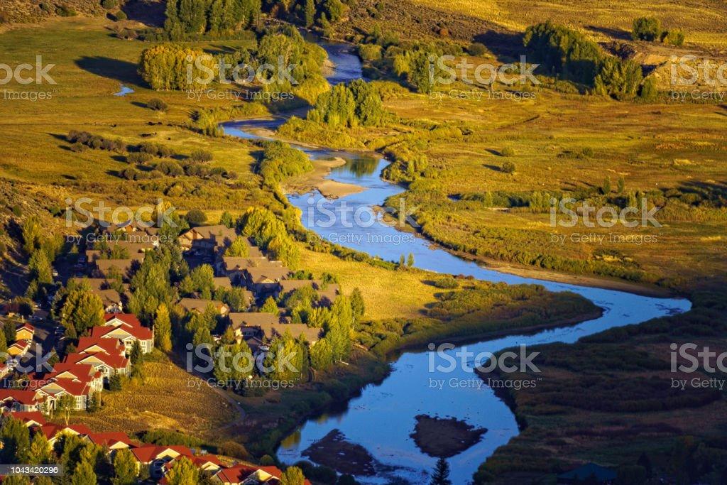 Vail Valley in Autumn stock photo