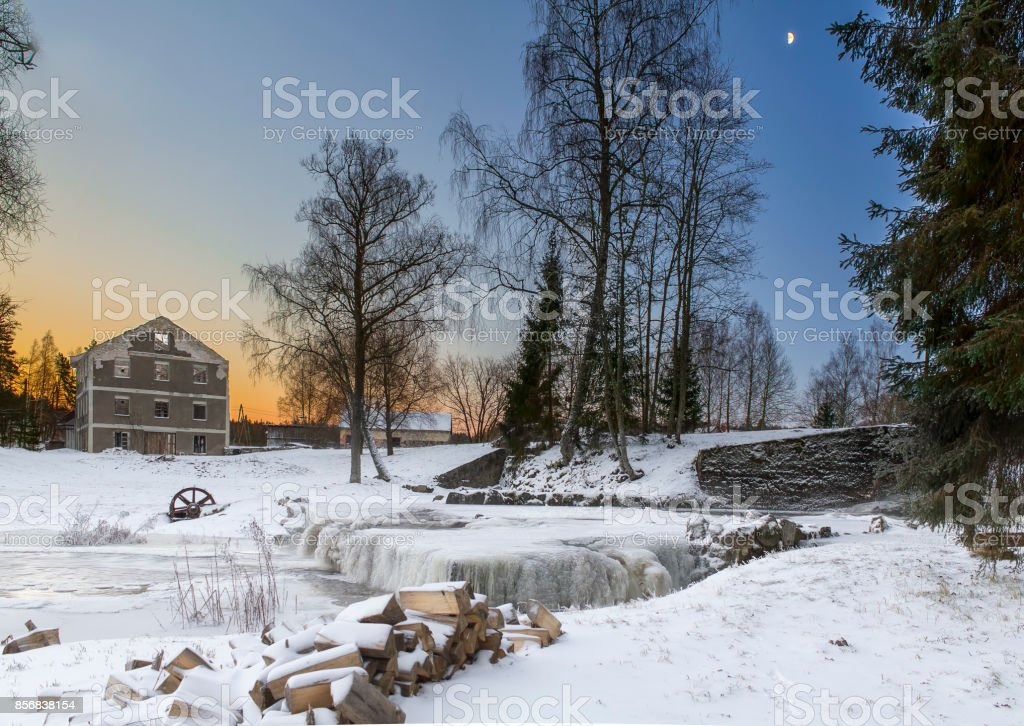 Vaivas mills stock photo