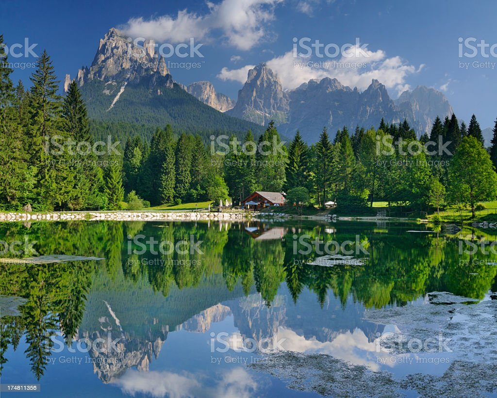 Val Canali (Dolomiti - Italia) royalty-free stock photo