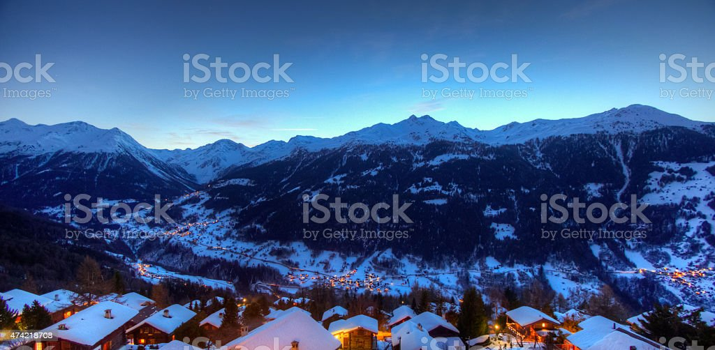 Val d'Anniviers stock photo