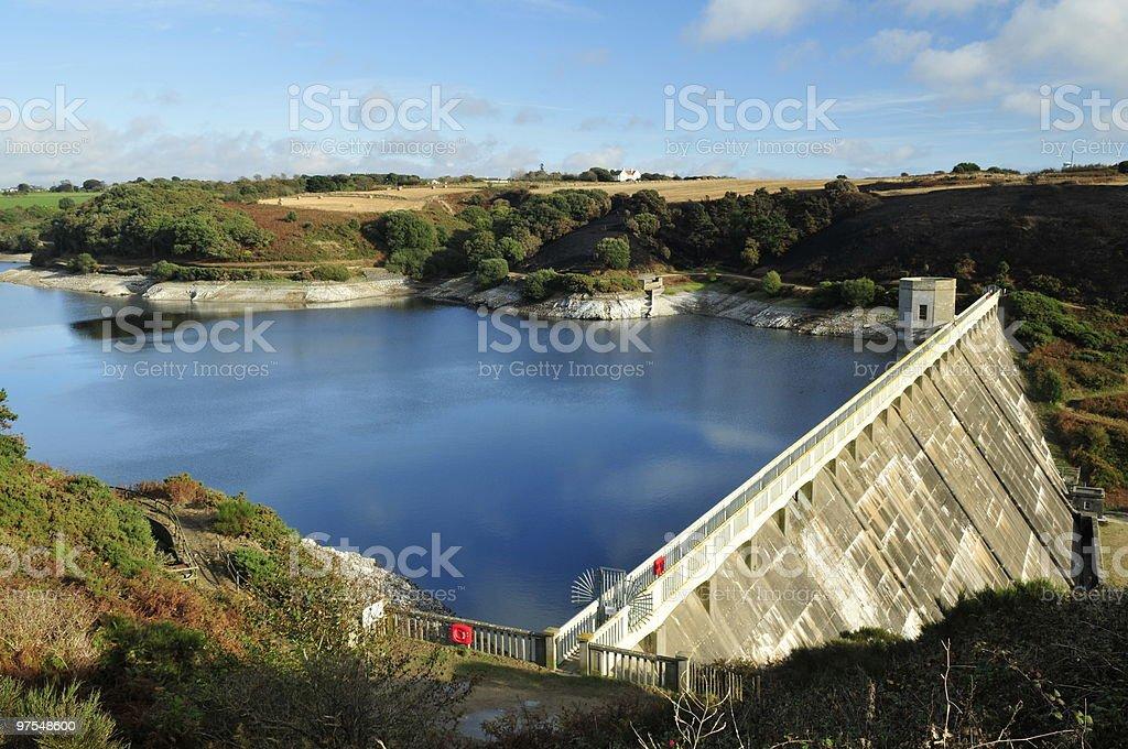 Val De La Mare reservoir,Jersey. royalty-free stock photo