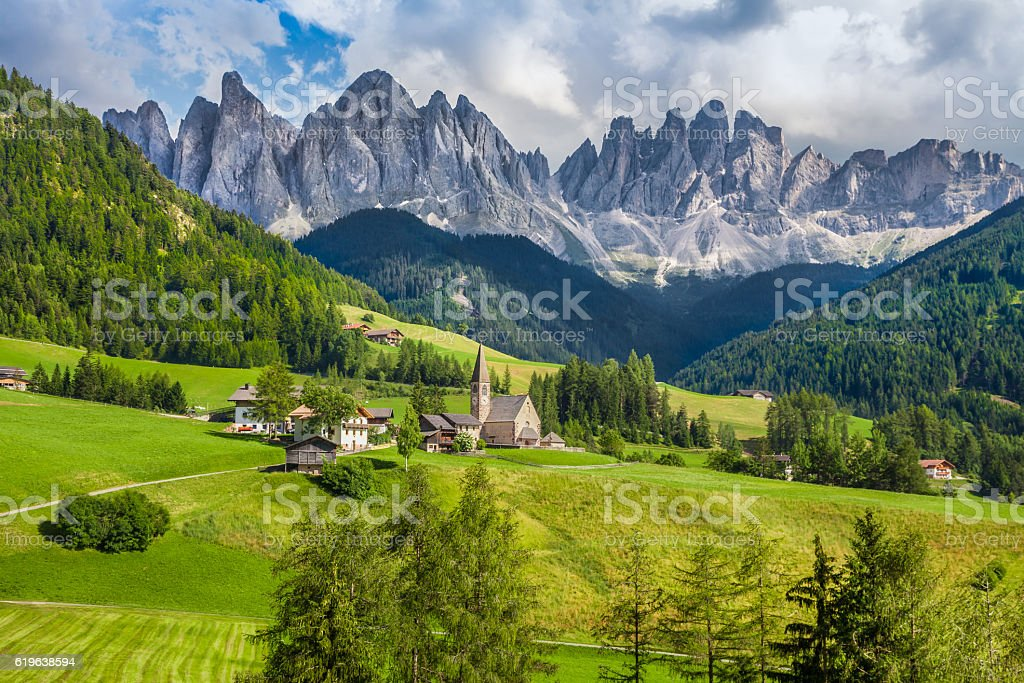 Val di Funes, South Tyrol, Italy stock photo