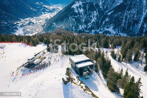 istock Val di Sole Pejo 3000, Pejo Fonti ski resort, Stelvio National Park, Trentino, Alps Italy 1239295678