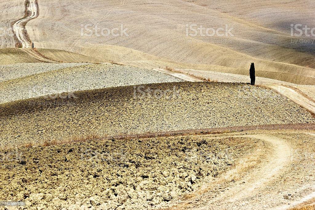 Val d'Orcia, Crete Senesi - Italy stock photo