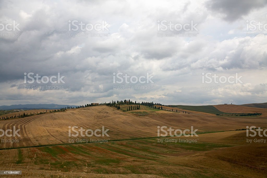 Val d'Orcia landscape II royalty-free stock photo