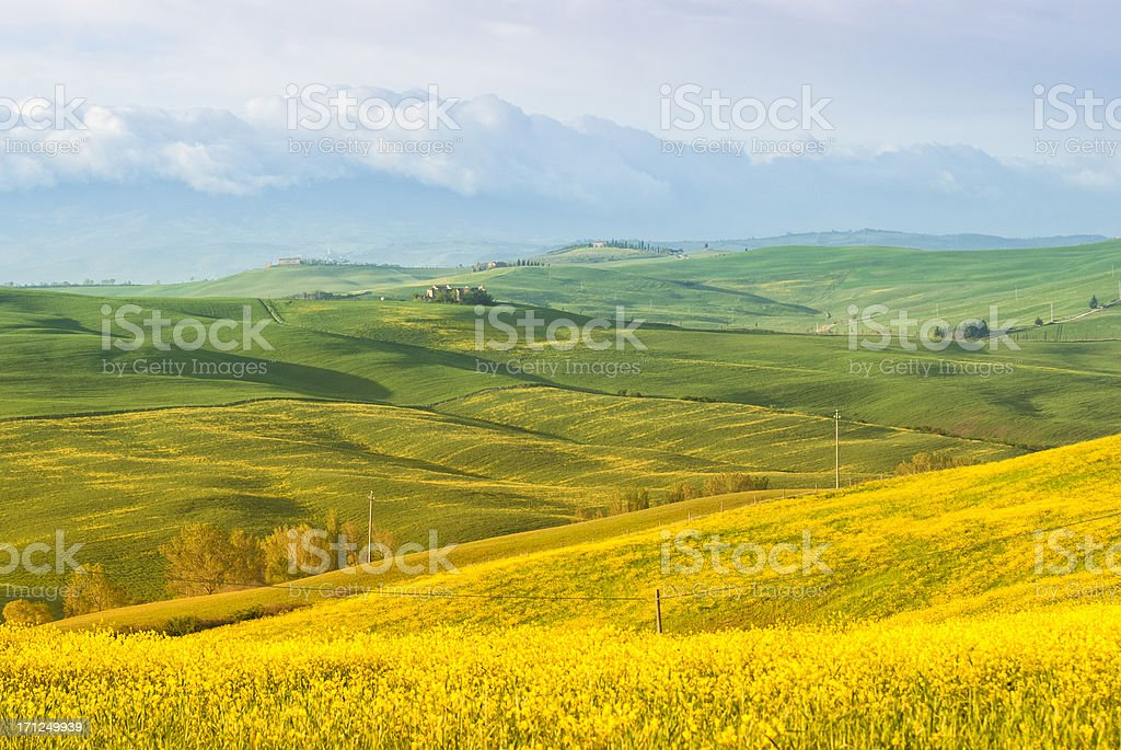 Val d'Orcia landscape royalty-free stock photo