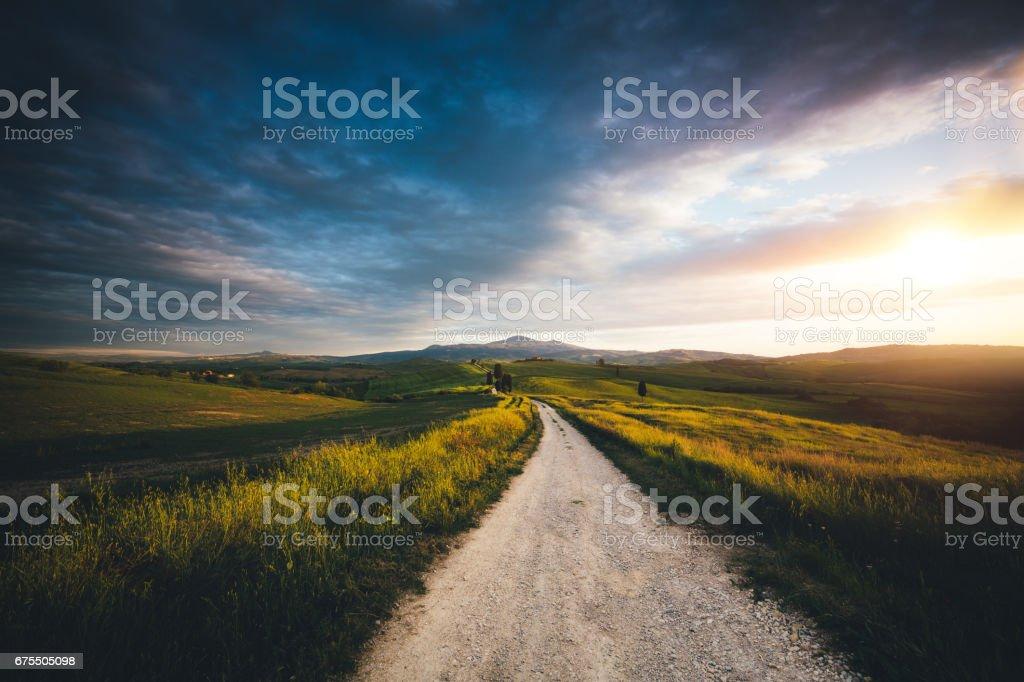 Val D'Orcia Landscape stock photo