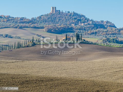 Fairy tale landscape in the region of Val d'Orcia, in Tuscany, Italy