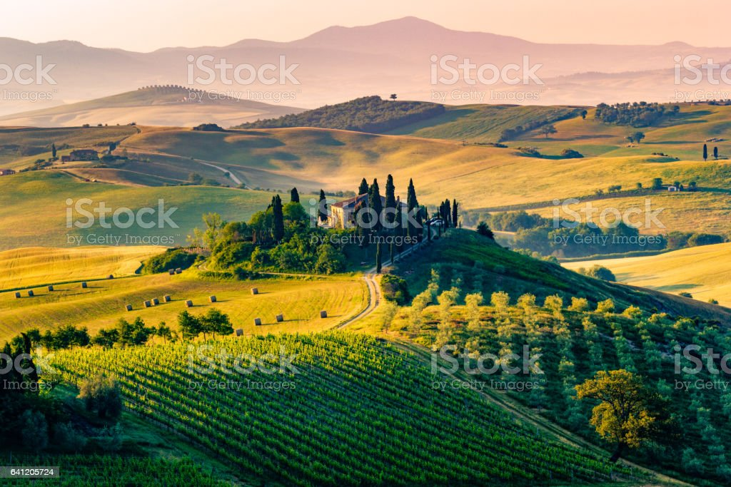 Val d'Orcia, Tuscany, Italy stock photo