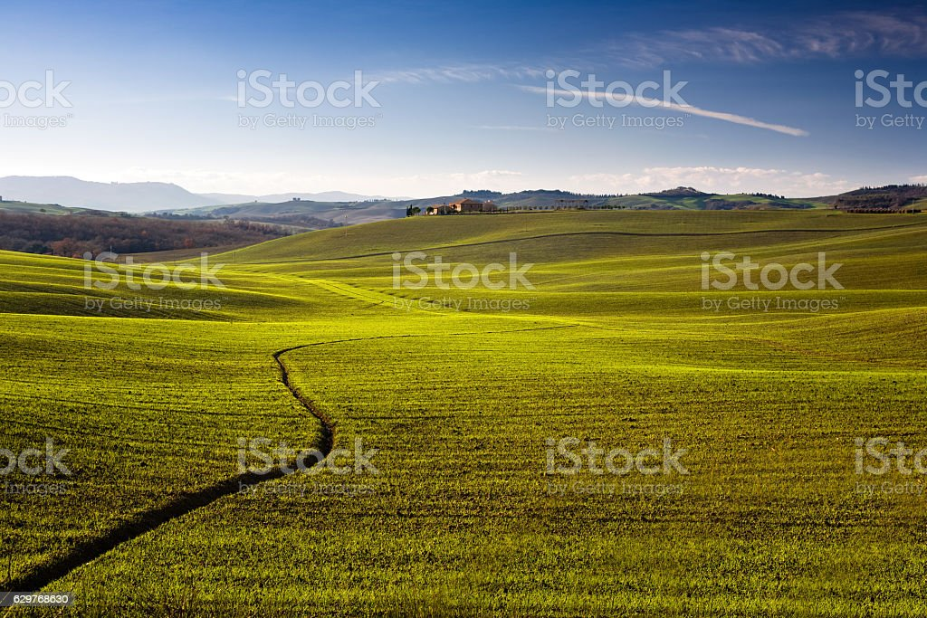 Val d'Orcia Toscana stock photo