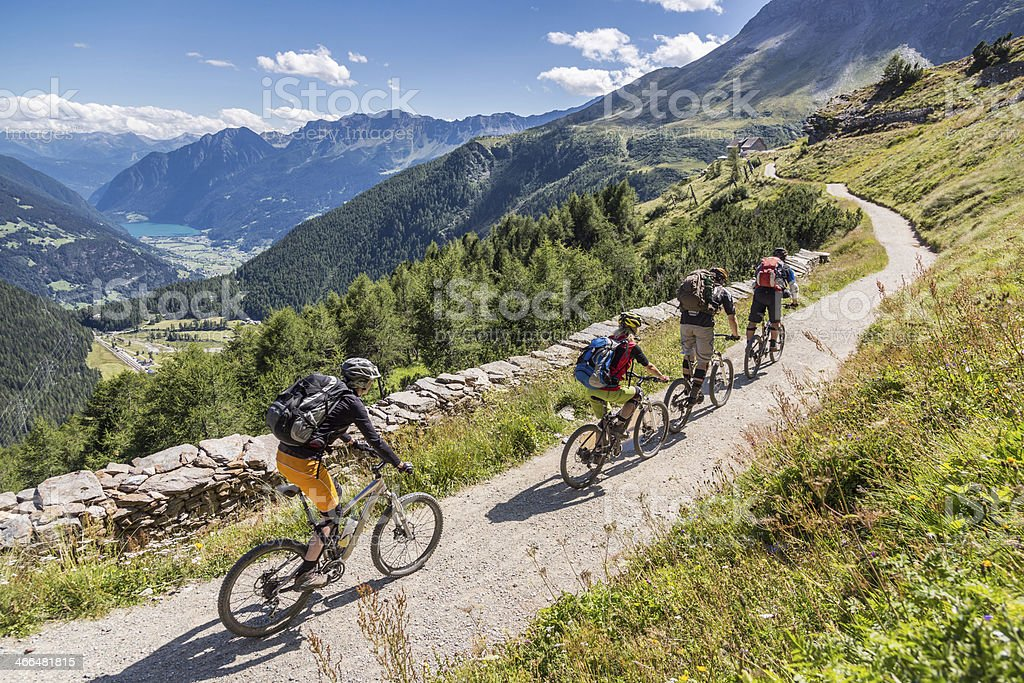 Val Poschiavo Downhill, Switzerland stock photo
