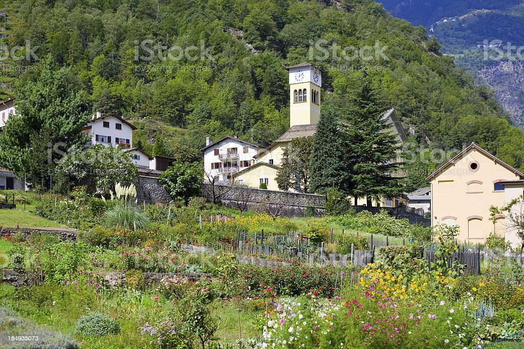 Val Poschiavo, Switzerland royalty-free stock photo