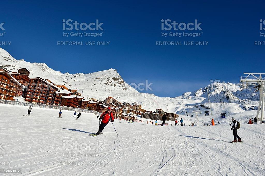 Val Thorens Ski Piste royalty-free stock photo