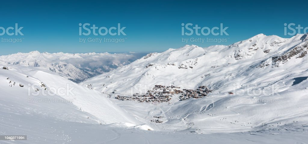 Val Thorens Village stock photo