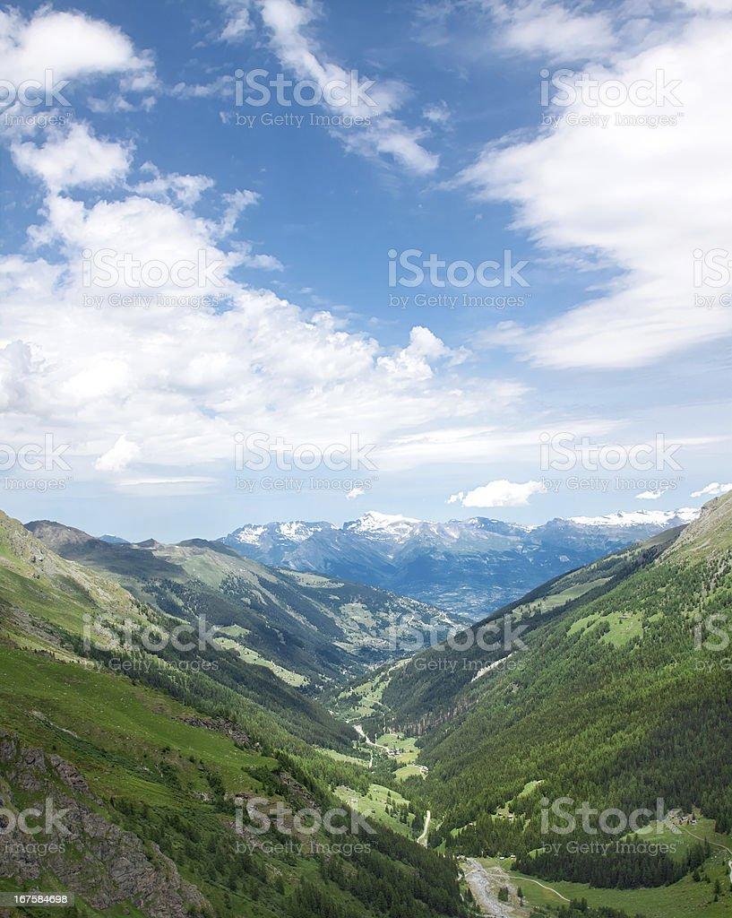Valais canton. Switzerland stock photo