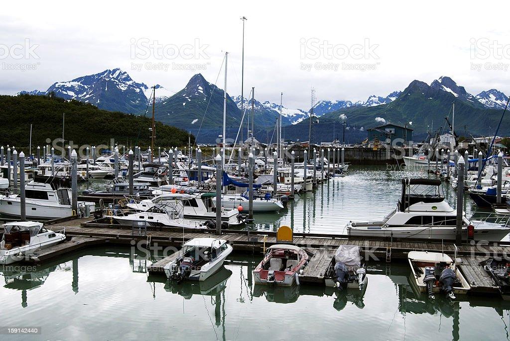 Valdez Harbor royalty-free stock photo